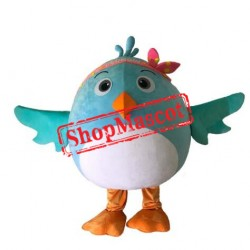 Small Blue Bird Mascot Costume