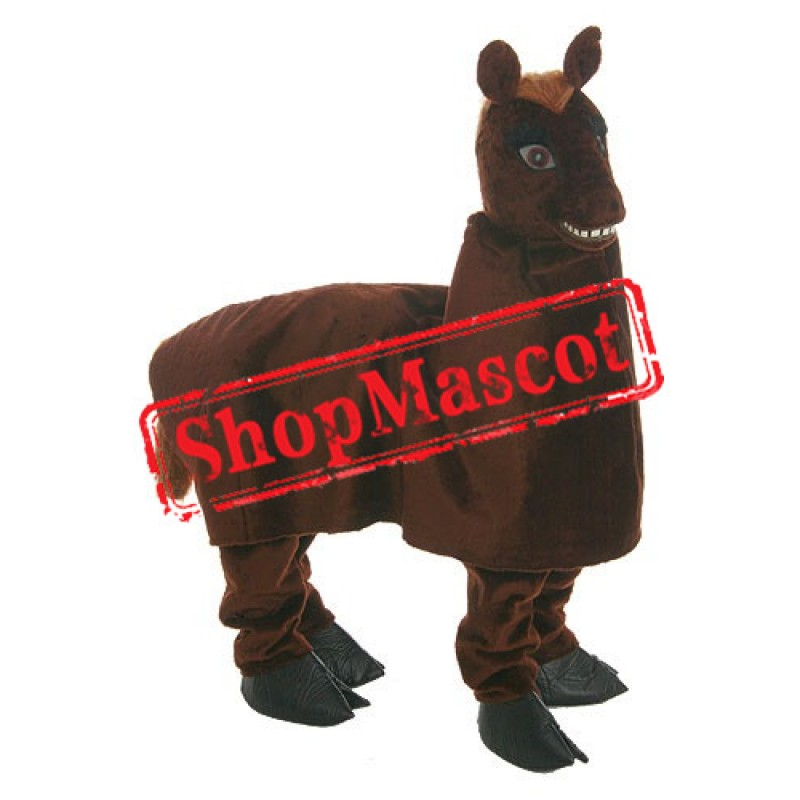 Happy Two Person Horse Mascot Costume