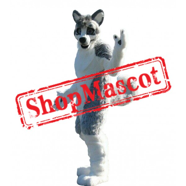 Super Cute Husky Mascot Costume