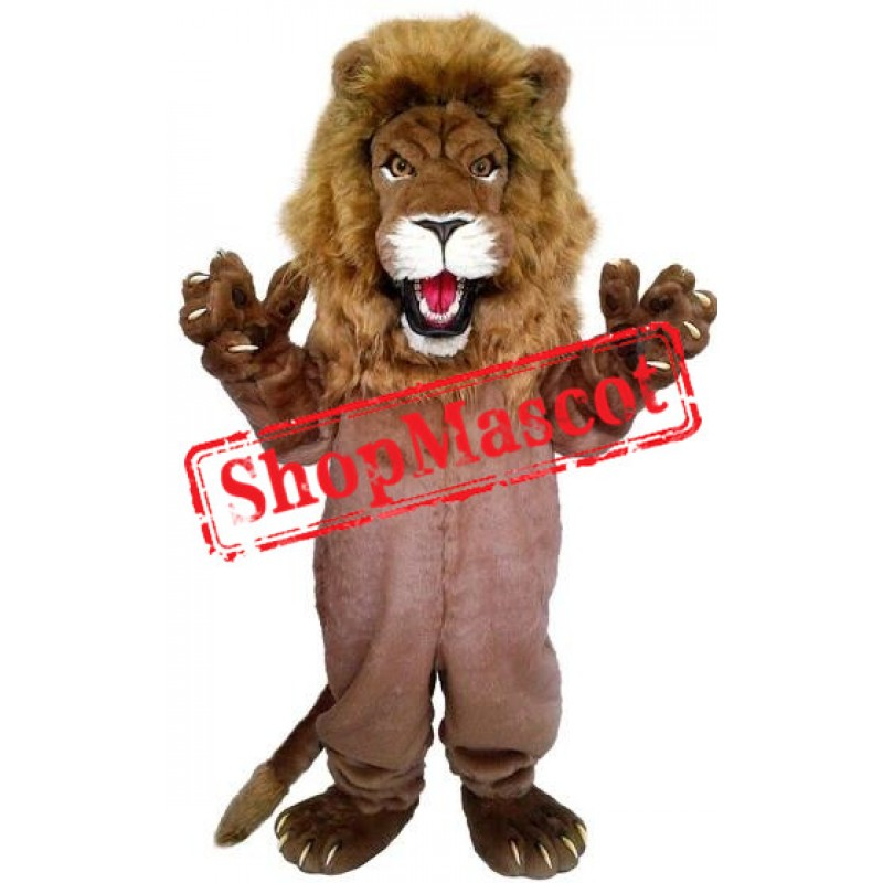 Powerful Lion Mascot Costume