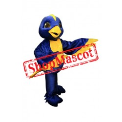 Blue & Yellow Bird Mascot Costume