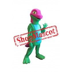Green & Red Lizard Mascot Costume