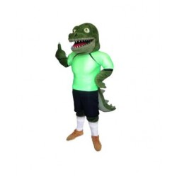 Sport School Crocodile Mascot Costume