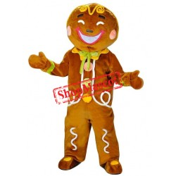 Top Quality Gingerbread Man Mascot Costume