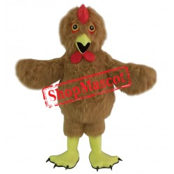 Furry Brown Chicken Mascot Costume