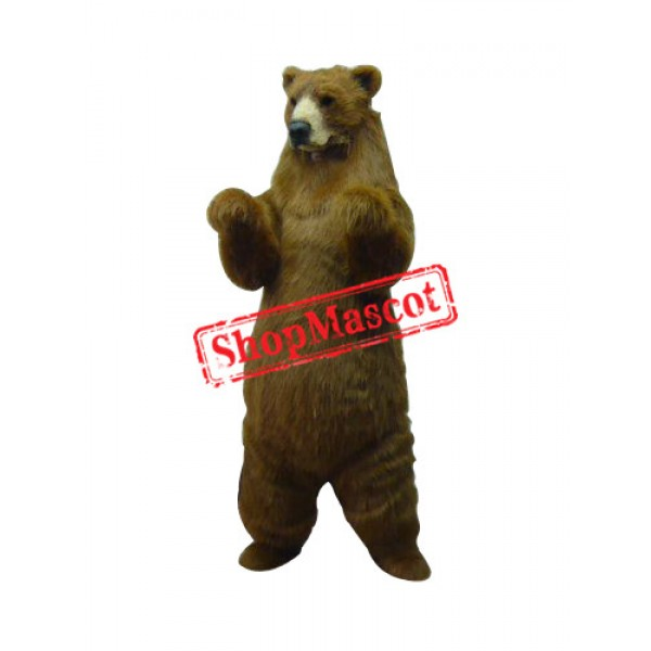 Realistic Grizzly Bear Mascot Costume
