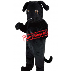 Top Quality Back Dog Mascot Costume