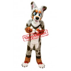 Colorful Husky Dog Mascot Costume