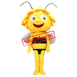 Maya The Bee Mascot Costume Yellow Bee Mascot Adult Character Costume