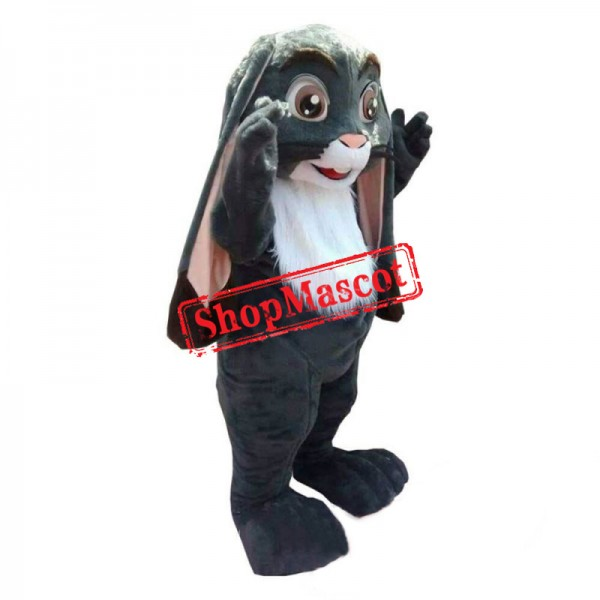 Dark Grey Rabbit Mascot Costume Easter Bunny Mascot Costume