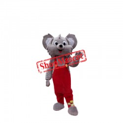 Koala Mascot Cartoon Apparel Birthday Party Christmas Halloween Mascot Costume