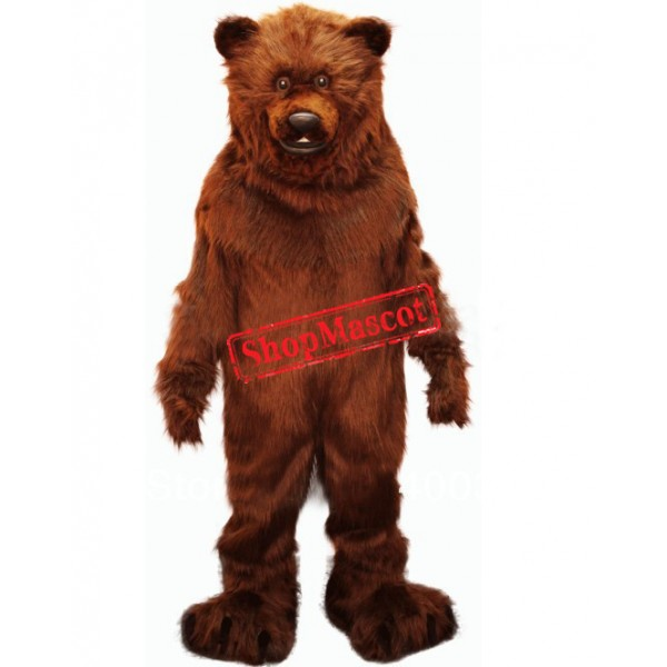 Friendly Grizzly Bear Mascot Costume