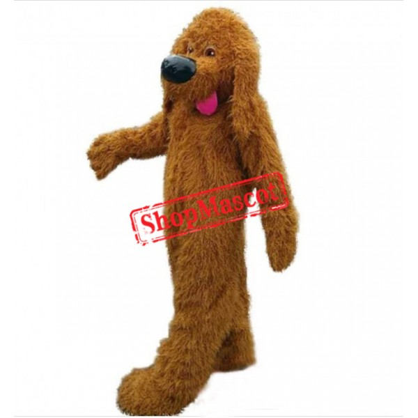 Brown Poodle Dog Mascot Costumes For Adults
