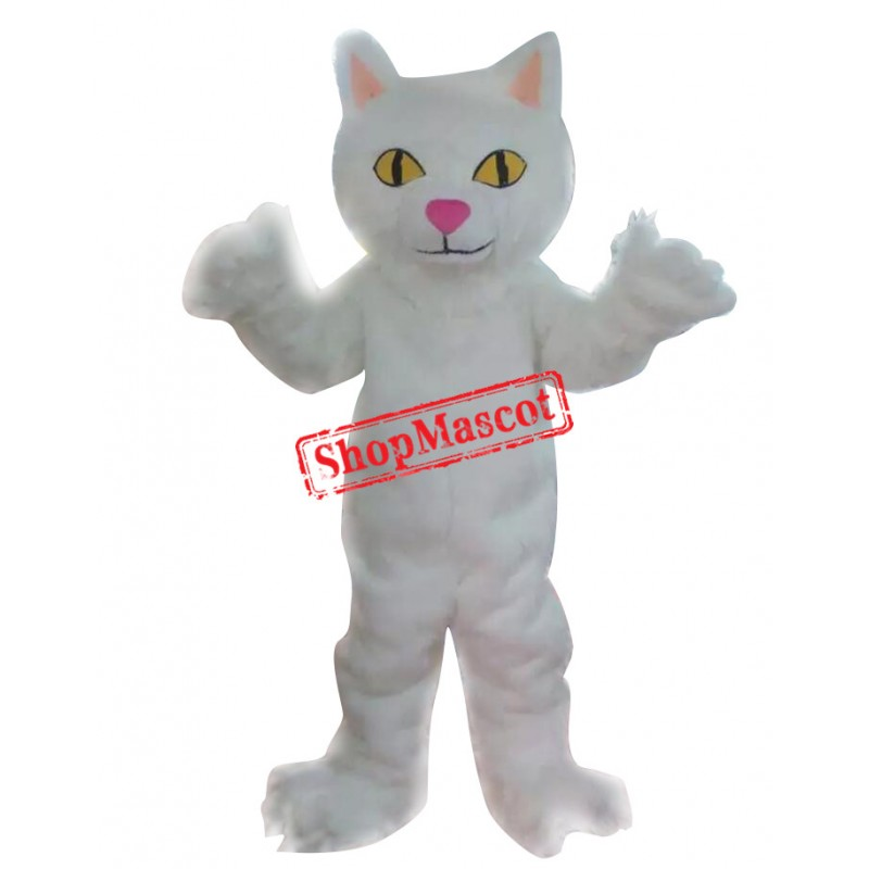 White Cat Mascot Costumes