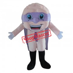 Brain Mascot Costume With Cape For Adult