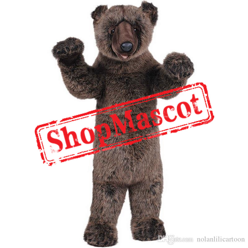 Black Grizzly Bear Mascot Costume