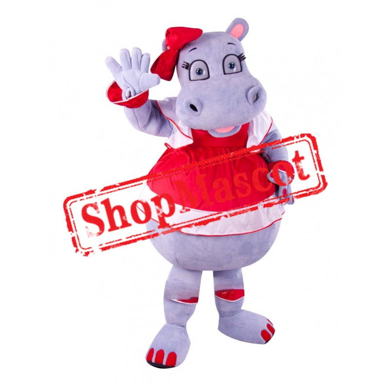 Beautiful Hippo Mascot Costume