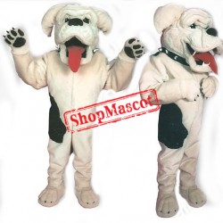 White Bulldog Mascot Costume