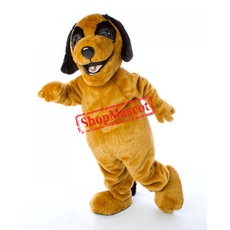 Happy Yellow Dog Mascot Costume