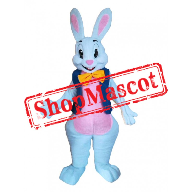 Easter Bunny White Adult Mascot Costume