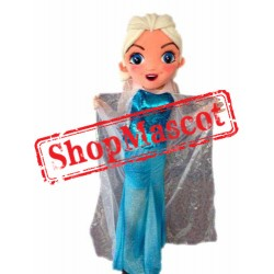 Cheap Frozen Princess Elsa Mascot Costume