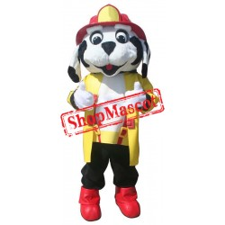 Professional Fire Dog Mascot Costume