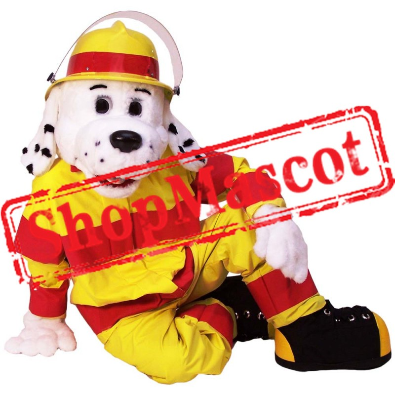 Earnest Fire Dog Mascot Costume