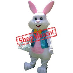 Plush Easter Bunny Mascot Costume