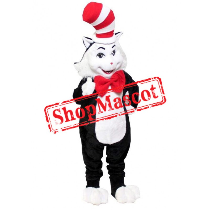 Seuss Cat In The Hat Mascot Costume