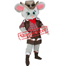 Grey Female Mouse Mascot Costume