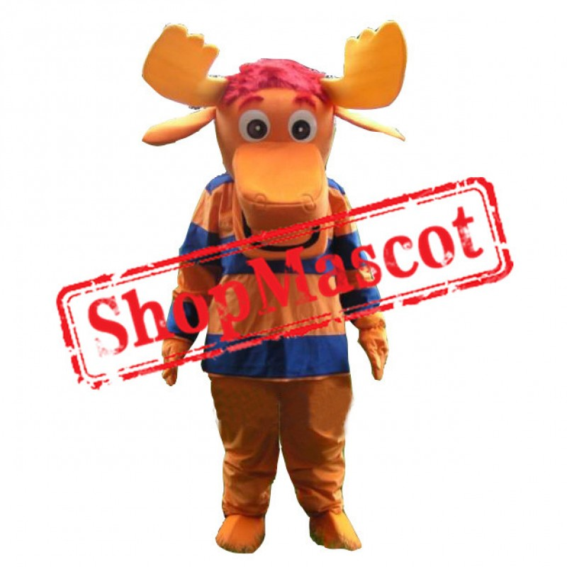 Tyrone Moose Mascot Costume