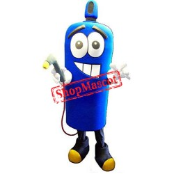 Blue Gas Bottle Mascot Costume