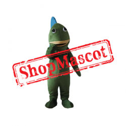 Cheap Green & Blue Fish Mascot Costume