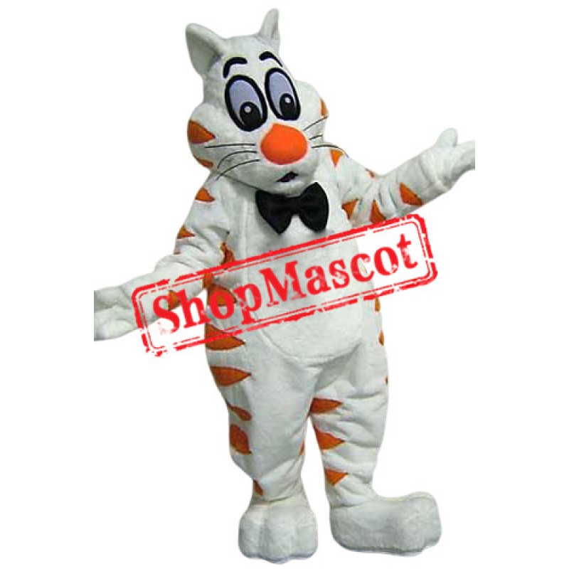 White Fat Cat Mascot Costume