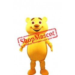 Happy Yellow Bear Mascot Costume