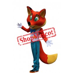 Happy Lightweight Red Fox Mascot Costume