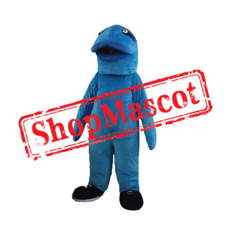 Cute Blue Fish Mascot Costume Free Shipping