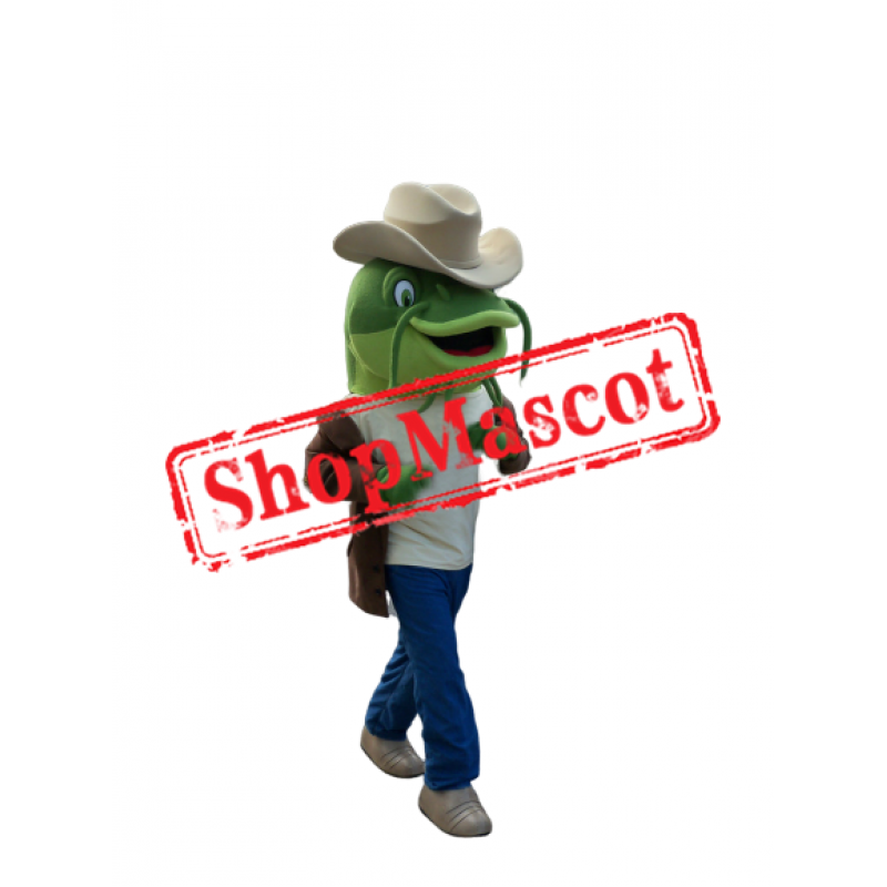 Green Catfish Mascot Costume