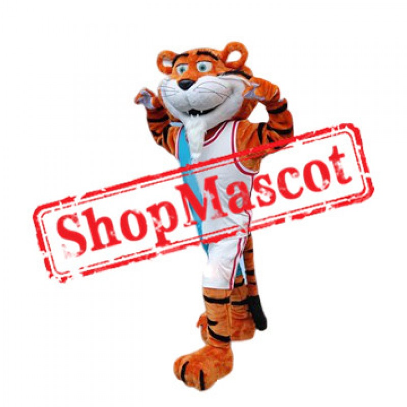 Happy Sport Tiger Mascot Costume