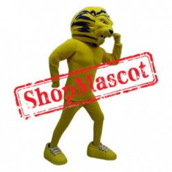 High Quality Yellow Lion Mascot Costume