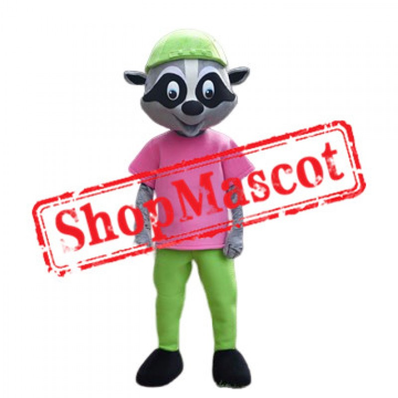 Cute School Raccoon Mascot Costume