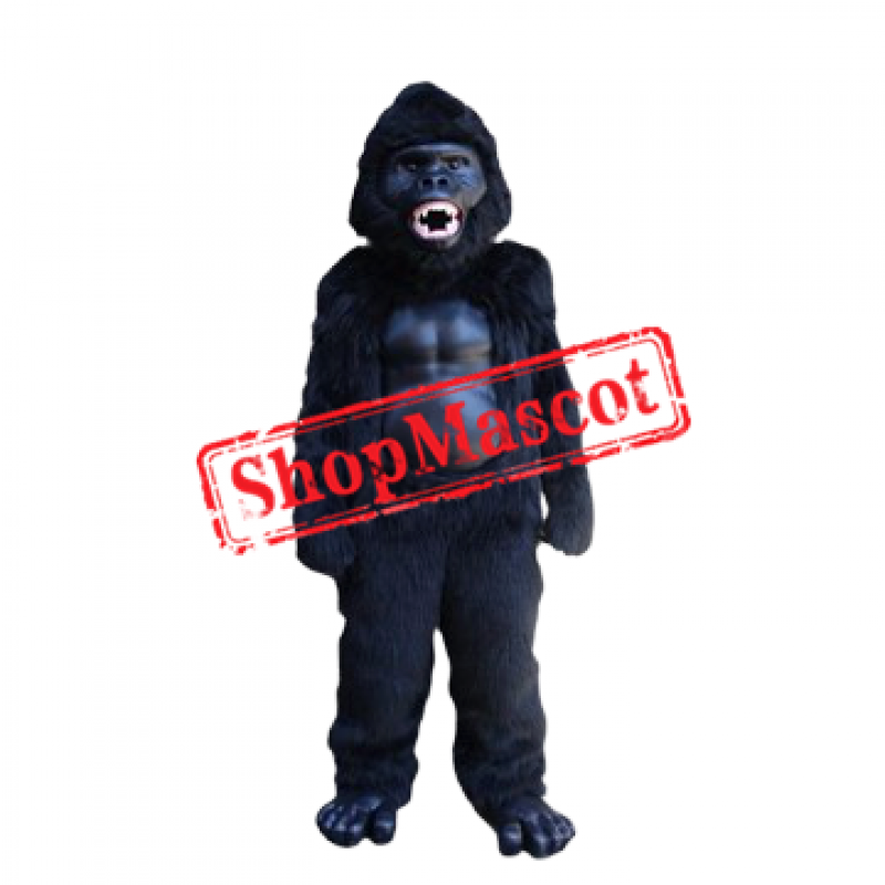 Fierce Black Gorilla Mascot Costume