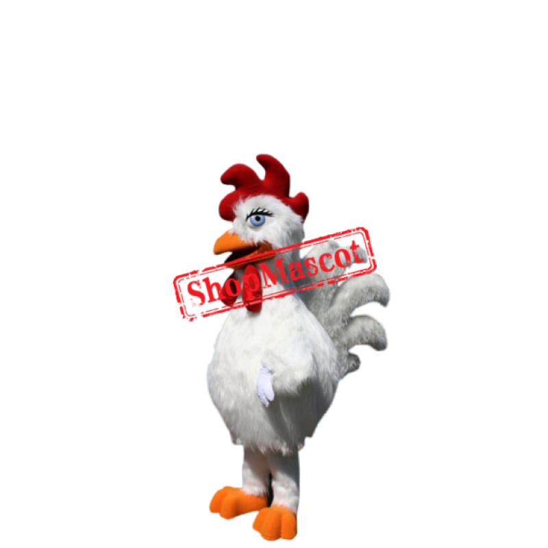 Good Quality White Chicken Mascot Costume