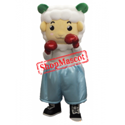 Boxer Sheep Mascot Costume