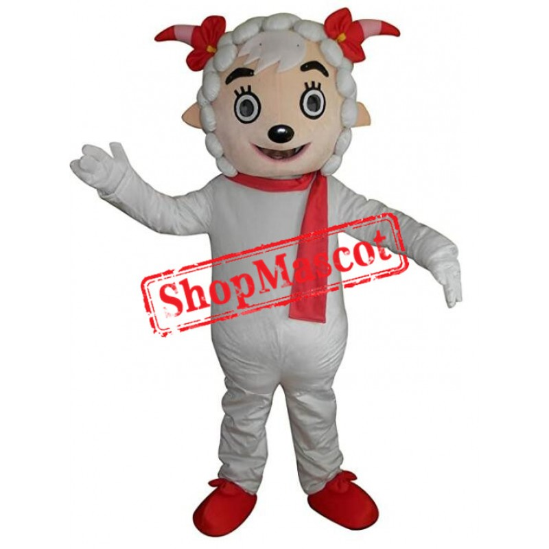 Christmas Sheep Mascot Costume