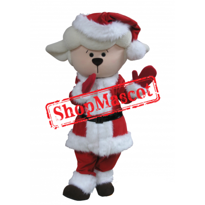 Cute Christmas Sheep Mascot Costume