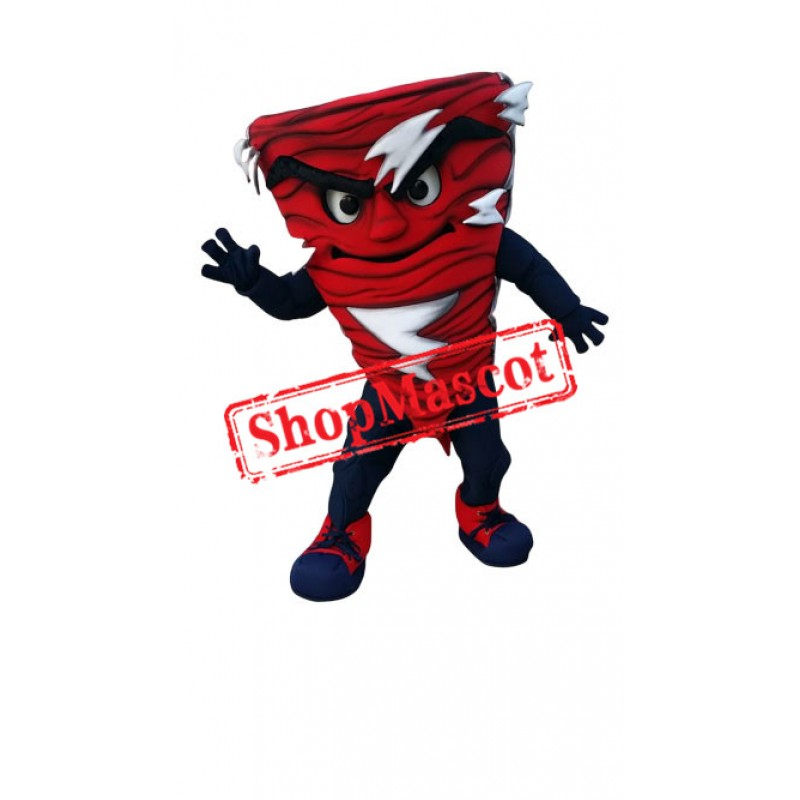 Red Power Tornado Mascot Costume