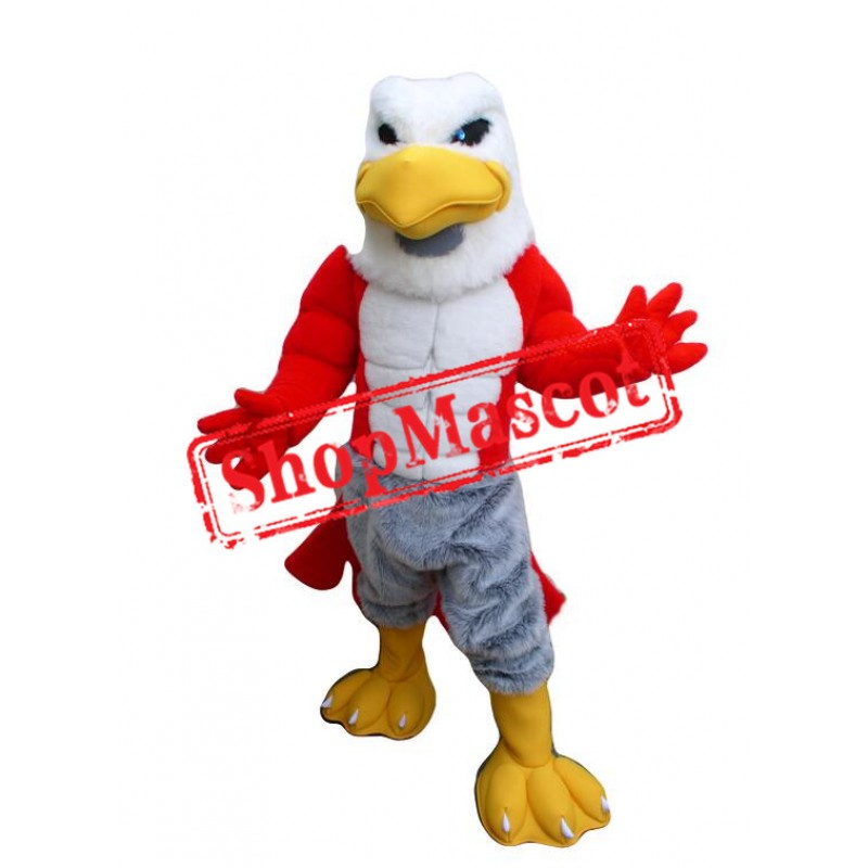 Friendly Power Hawk Mascot Costume