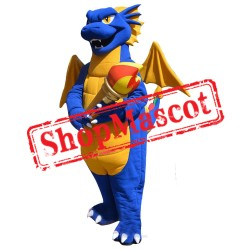 Best Quality Blue Dragon Mascot Costume