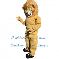 Cute Power Lion Mascot Costume